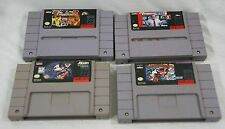 Super Nintendo Game Cartridges - Lot of 4