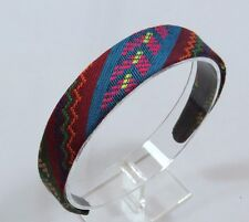 Women's Colorful Aztec Tribal Print Fabric Covered Headband Hair Accessory F