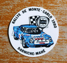 1980 Rallye Montecarlo Lancia Stratos / Motorsport Sticker Decal