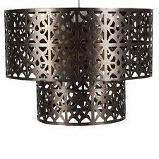 Laiton antique 2 niveau style marocain pendentif shade plafonnier Maison Cadeau Nouveau