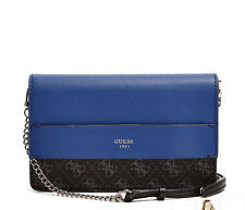 NWT GUESS Hailey Quatro G Crossbody Handbag Purse Black Blue