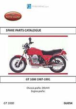 Moto Guzzi parts manual book GT 1000 1987, 1988, 1989, 1990 & 1991