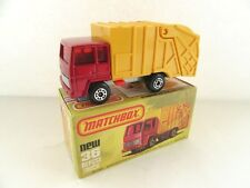 Matchbox Superfast 36d Refuse Truck - Met Red/Yellow NO COLLECTMATIC - RARE