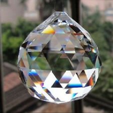 K9 Clear Crystal Feng Shui Lamp Ball Prism Rainbow Sun Catcher Wedding 60MM Deco