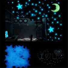100PCS Fun Glow In The Dark Stars Wall Sticker Kids Bedroom Room Ceiling Decor
