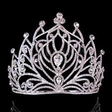 Luxury 11.5cm High Full Crystal Wedding Bridal Party Pageant Prom Tiara Comb