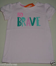 Gymboree toddler girl so brave pink tee shirt size 2 2T NWT top