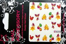 Ostern Water Nail Sticker Tatoo gespiegelt Easter Nr. 6