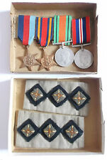 burma medal grouping including  cloth rank  slip ons CAPT R R J SNARE  I.E.M.E.