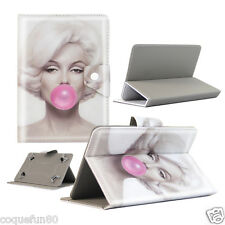 Housse Etui Tablette Samsung TAB E  9.6 Pouces - Design Marilyn Bubble