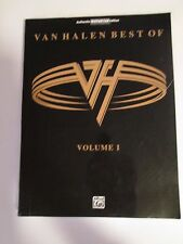 BEST of VAN HALEN Vol 1 Guitar Tab Sheet Music Book Chords Lyrics Songs