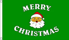 GREEN MERRY CHRISTMAS FLAG 5' x 3' Santa Father Xmas Happy New Year Party