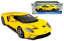 2017 FORD GT 1:18 Scale Metal Diecast Car Model Models Miniature Yellow