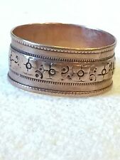 10K Rose Gold Floral Victorian Wedding Band, Circa 1880  Size 6