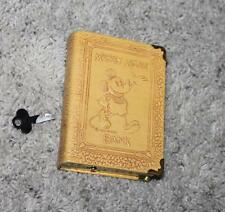 """EX+ DISNEY 1930's """"MICKEY MOUSE BOOK BANK""""+KEY BY ZELL-SCARCE SPINE GRAPHICS VS."""