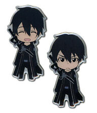 **License** Sword Art Online SD Happy & Angry Kirito Pin Set #50059