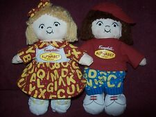 Campbell's Soup THE ALPHABET SOUP Girl & Boy MINI BEAN BAGS - GREAT CONDITION
