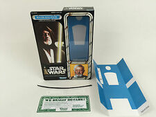 "replacement vintage star wars 12"" obi wan kenobi box + inserts superb quality"