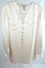 H&M Light Pink Silk Button Tunic - Misses 6