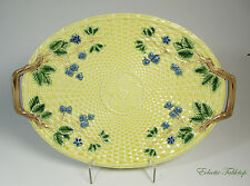 Tiffany & Co. Majolica Basket Weave Oval Yellow Platter