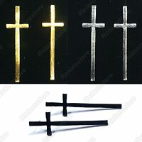 Long Cross Gold / Silver / Black Stud Earrings - Women's Jewellry - NEW