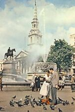 London: Fountain,Trafalger Square, St Martin in the Field - Posted 1960 - Dixon