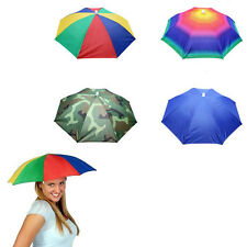 Foldable Umbrella Hat Cap Outdoor Fishing Sports Camping Windproof Anti-UV Rain