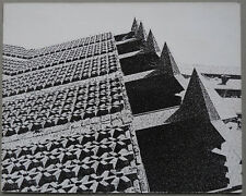 Photo Argentique Architecture Abstract Abstrait Vers 1960 #3