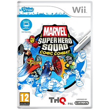 NINTENDO WII GAME marvel super hero squad udraw FUMETTI COMBAT KIDS FUN 12 +