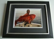 Robson Green SIGNED 10X8 FRAMED Photo Autograph Display Extreme Fishing TV & COA