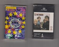 LOT OF 2 U2 (zooropa / october) Cassettes NEW