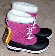 GIRLS WINTER SNOW PAC BOOTS SIZE 3 PINK - BRAND NEW