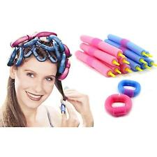 Hot 12Pcs Soft Foam Curlers Makers Twist Curls Tool DIY Styling Hair Rollers Kit