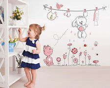 Cat Animals Removable Wall Decal Stickers For Baby Nursery Room Decor Kids