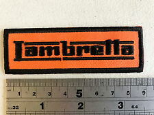 Lambretta SMALL BAR (BLACK Text/Border) Patch - Embroidered - Iron or Sew On