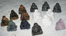 Lovely NEW Polished GEMSTONE BUDDHA-HOWLITE,TIGER EYE,OBSIDIANE - YOU CHOOSE 1