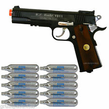 Airsoft Co2 Pistol Gun Metal 500 FPS WG 1911 Special Combat FREE .12g co2