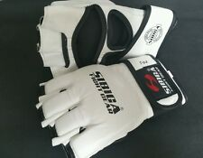 7oz MMA Gloves.Large/xl.white .sparing gloves.kyokushin.karate Large