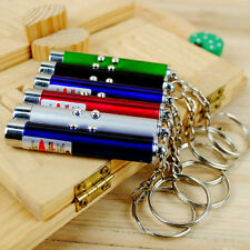 Ultraviolet Mini Money Detector Red Laser Pointer Pen LED Light Keychain Cat toy