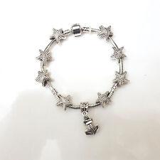 NEW Silver Starfish Murano Beads Charm Bracelet Brighton Bay