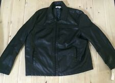 NWT Mens KENNETH COLE REACTION Black Faux Leather Jacket Coat Size 2XL XXL