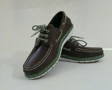 Sperry Topsider Mens Shoes Billfish Ultralite 3 Eye Brown Green Boat 7.5 M New