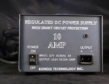 New Price!  Kondix Technologies Regulated DC Power Supply 110AC To 12VDC Look!