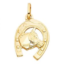 EJCM26522 - Solid 14K yellow gold Horse shoe charm