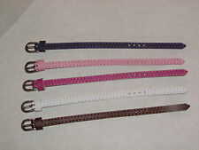 5 Genuine Leather 6mm Belts for Integrity, Fashion Royalty, & Barbie Dolls