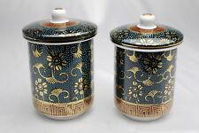 Unused Japanese Tea Cup YUNOMI + Lid KUTANI Ware porcelain