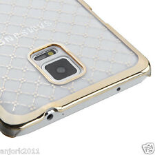 SAMSUNG GALAXY NOTE 4 SLIM FIT SNAP ON HARD BACK COVER CLEAR PLAID
