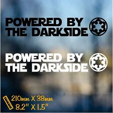 Powered by Darkside funny decal sticker vinyl car truck window bumper Star Wars