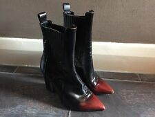 Gorgeous All Saints Black Red Toe Pointed Cubista Heel Boots UK 5 Size 38