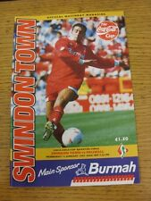 11/01/1995 Swindon Town v Millwall [Football League Cup] . This item has been in